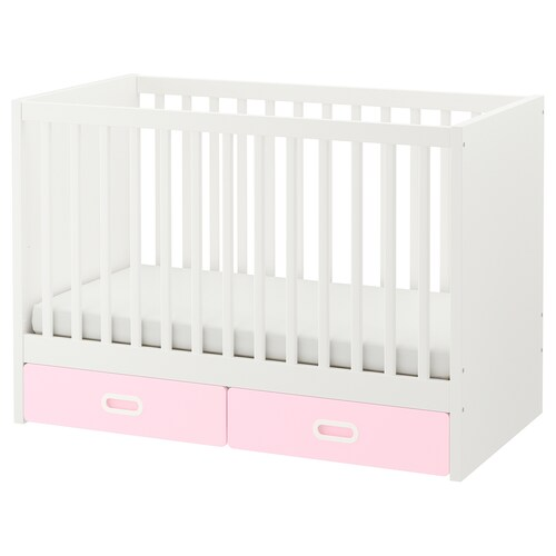 STUVA / FRITIDS cot with drawers light pink 126 cm 66 cm 86 cm 60 cm 120 cm 20 kg