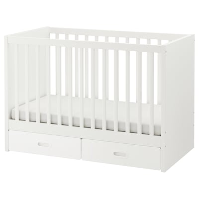 STUVA / FRITIDS Cot with drawers, white, 60x120 cm