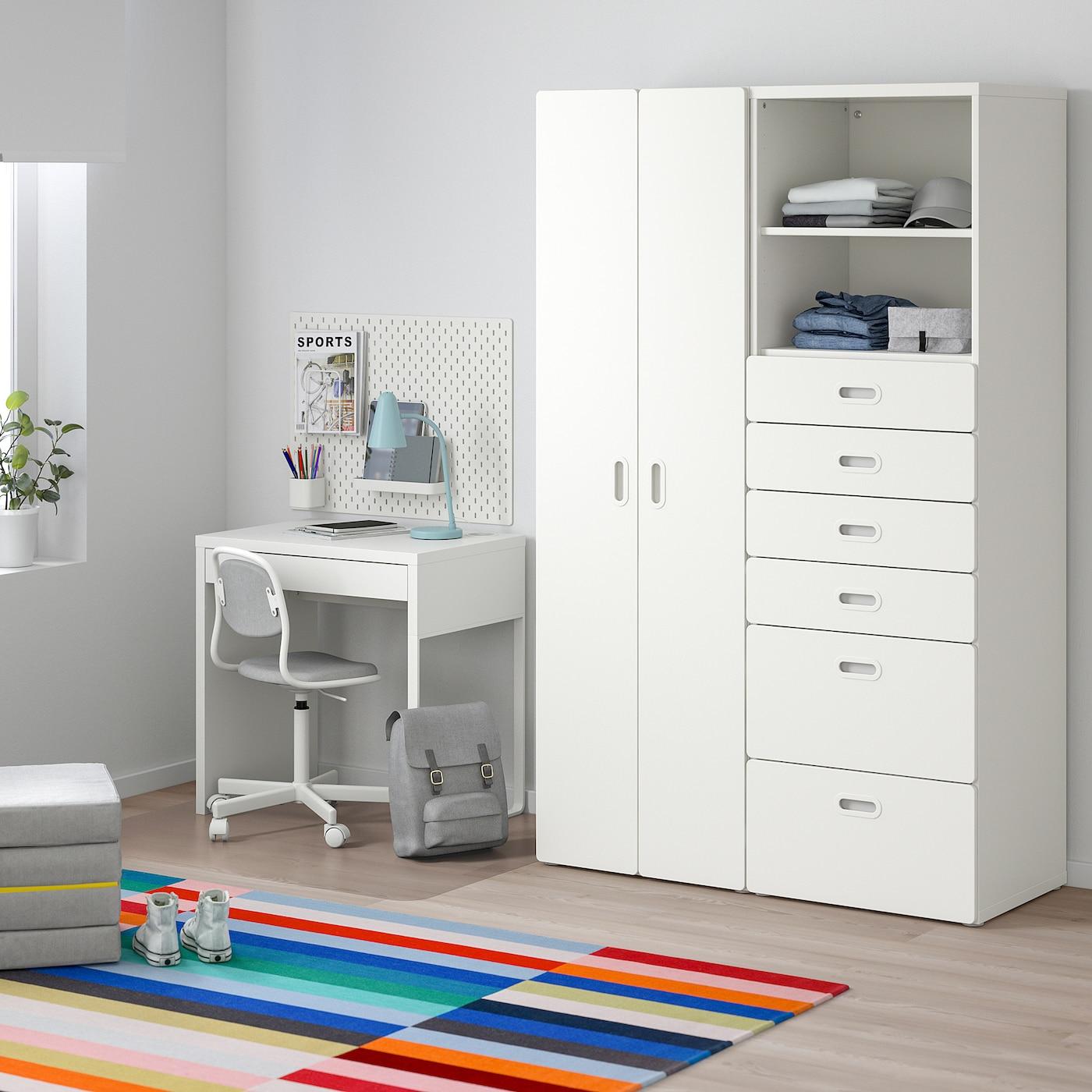 STUVA / FRITIDS Wardrobe, white/white, 120x50x192 cm