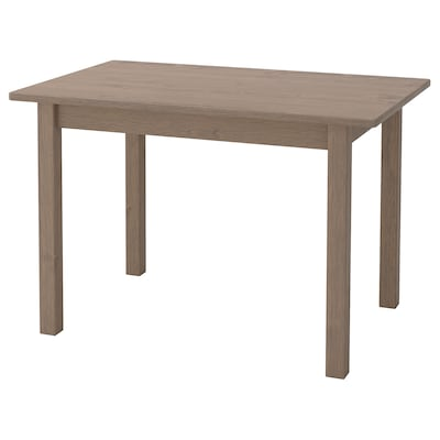 SUNDVIK Children's table, grey/light grey, 76x50 cm