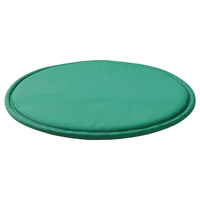 SUNNEA Chair pad, green/Lofallet, 36x2.5 cm