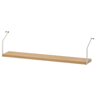 SVALNÄS Shelf, bamboo, 81x15 cm