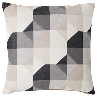 SVARTHÖ Cushion cover, beige, 50x50 cm