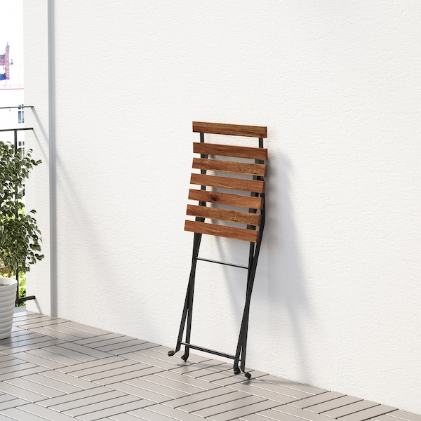 TÄRNÖ طاولة+4 كراسي، خارجية, أسود/بني فاتح/Frösön/Duvholmen بيج