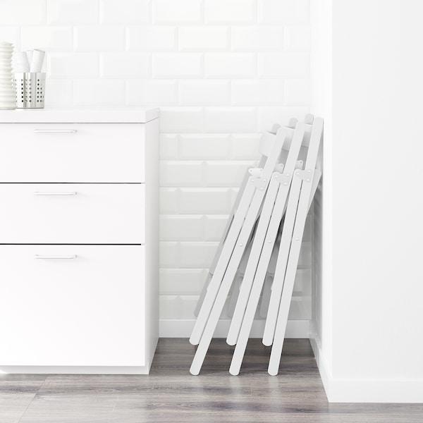 TERJE كرسي قابل للطي, أبيض
