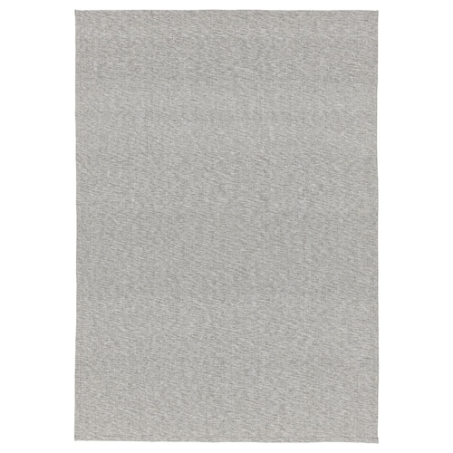 TIPHEDE rug, flatwoven grey/white 220 cm 155 cm 2 mm 3.41 m² 700 g/m²