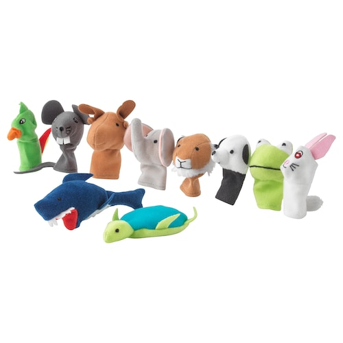 TITTA DJUR finger puppet mixed colours 10 pack