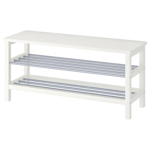 TJUSIG bench with shoe storage white 108 cm 34 cm 50 cm