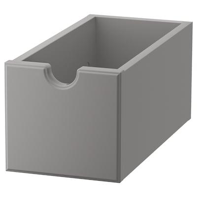 TORNVIKEN صندوق, رمادي, 16x34x15 سم