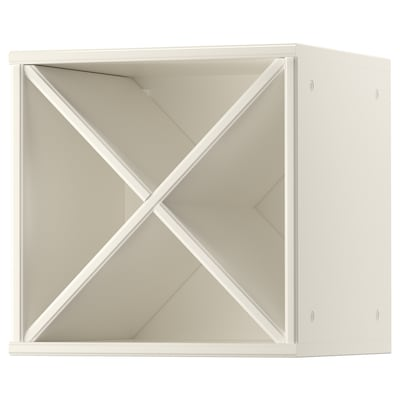 TORNVIKEN Glasses shelf, off-white, 40x37x40 cm