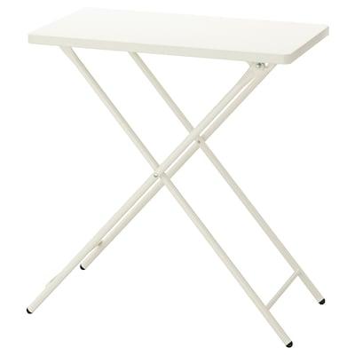 TORPARÖ طاولة، داخلية/خارجية, أبيض/قابل للطي, 70x42 سم