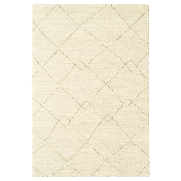 TVERSTED Rug, low pile, beige, 133x195 cm