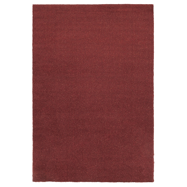 TYVELSE rug, low pile dark red 195 cm 133 cm 14 mm 2.59 m² 3000 g/m² 1880 g/m² 13 mm