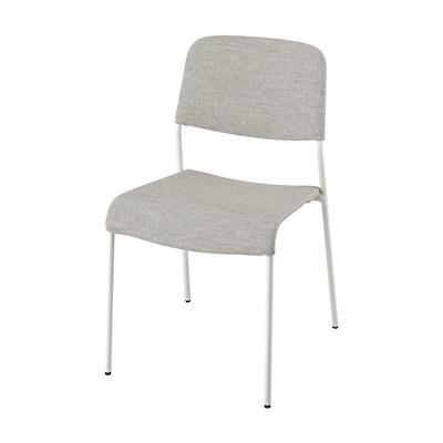 UDMUND كرسي, أبيض/Viarp بيج/بنّي