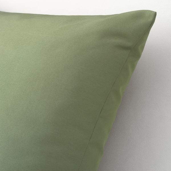 ULLKAKTUS Cushion, olive-green, 50x50 cm