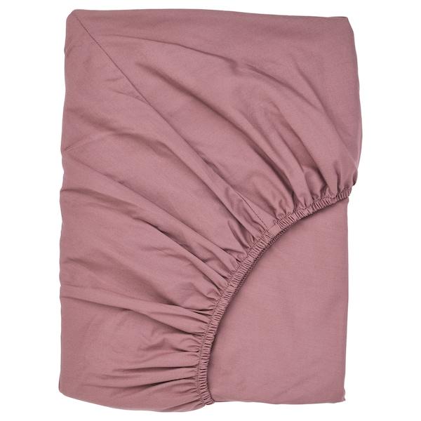 ULLVIDE fitted sheet dark pink 200 /inch² 200 cm 160 cm 26 cm