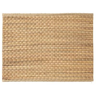 UNDERLAG Place mat, water hyacinth/natural, 35x45 cm