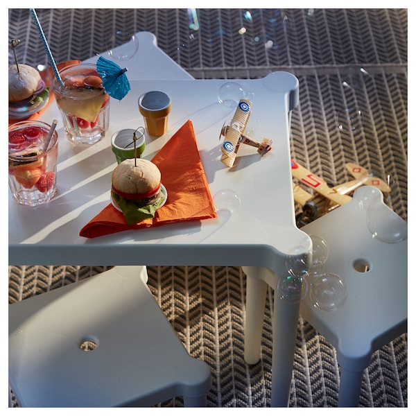 UTTER طاولة أطفال, داخلي/خارجي/أبيض