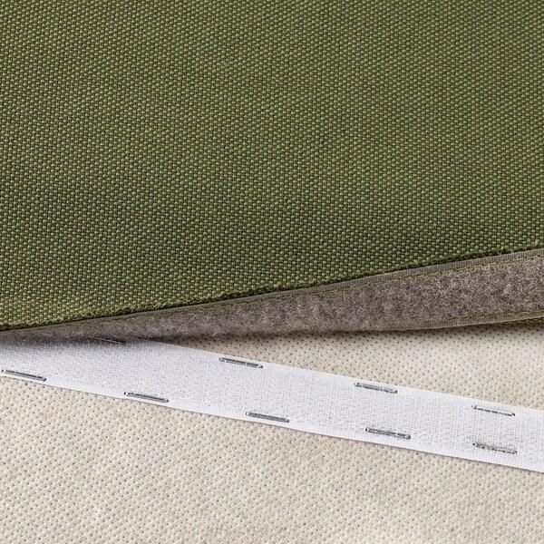 VALLENTUNA cover for backrest Orrsta olive-green 80 cm 80 cm