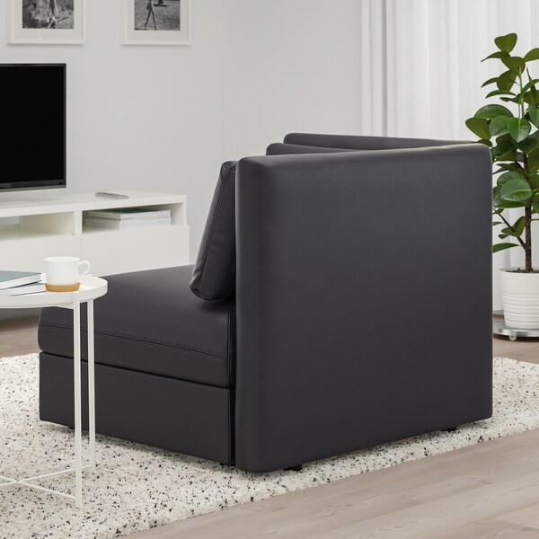 VALLENTUNA Seat module with backrest, Murum black