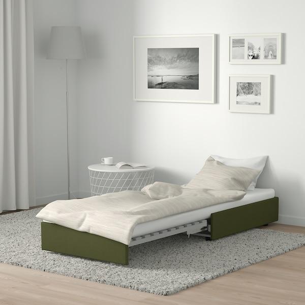 VALLENTUNA sofa-bed module Orrsta olive-green 80 cm 100 cm 45 cm 80 cm 200 cm
