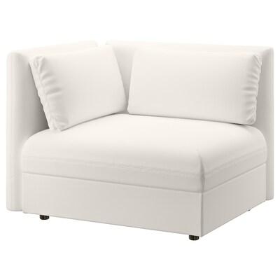 VALLENTUNA Sofa-bed module with backrests, Murum white