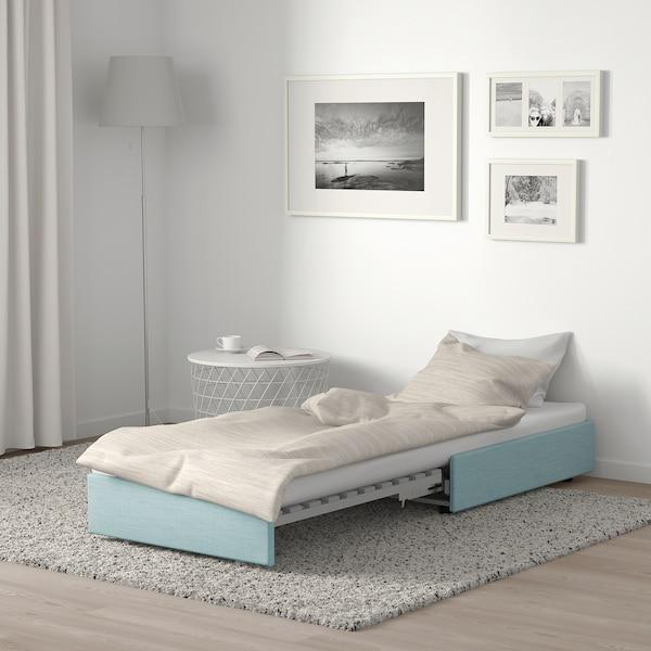 VALLENTUNA sofa-bed module Hillared light blue 80 cm 100 cm 45 cm 80 cm 200 cm