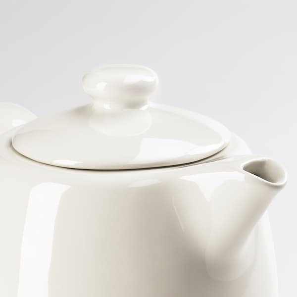 VARDAGEN دلة شاي, أبيض-عاجي, 1.2 ل