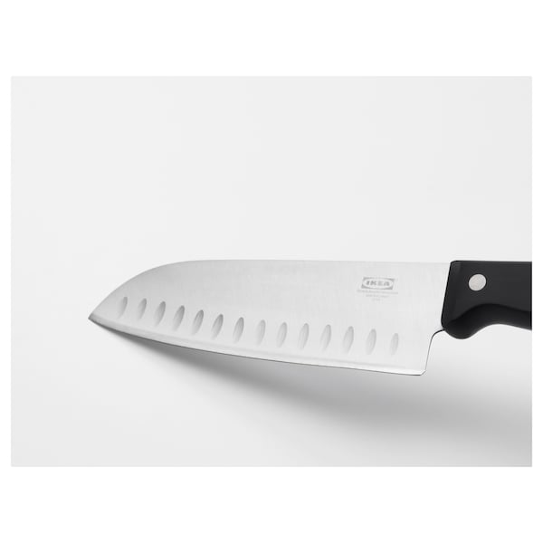 VARDAGEN Vegetable knife, dark grey, 16 cm