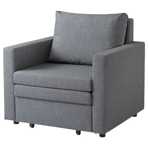 VATTVIKEN armchair-bed Lerhaga light grey 92 cm 83 cm 86 cm 50 cm 46 cm 70 cm 200 cm 10 cm