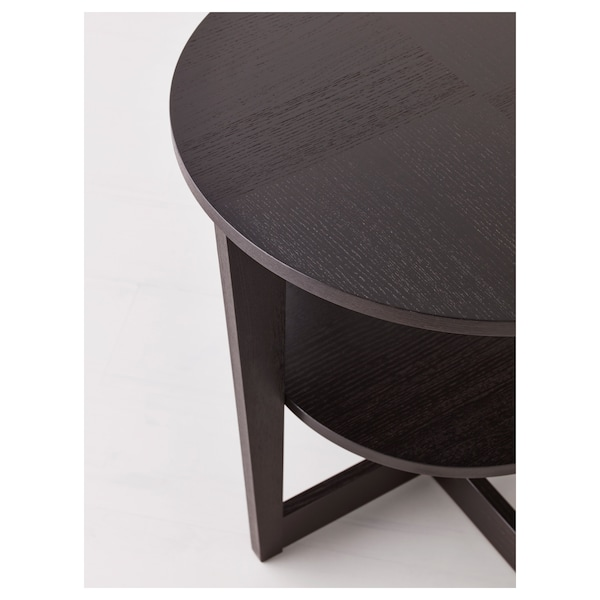 VEJMON Side table, black-brown, 60 cm