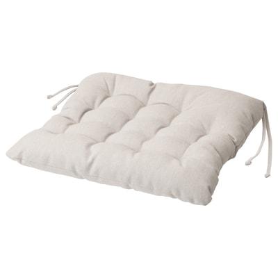 VIPPÄRT Chair cushion, beige, 38x38x6.5 cm