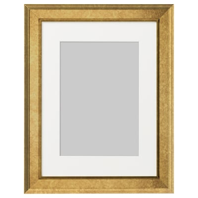 VIRSERUM Frame, gold-colour, 30x40 cm