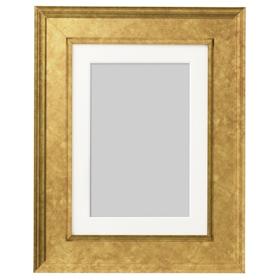 VIRSERUM Frame, gold-colour, 13x18 cm