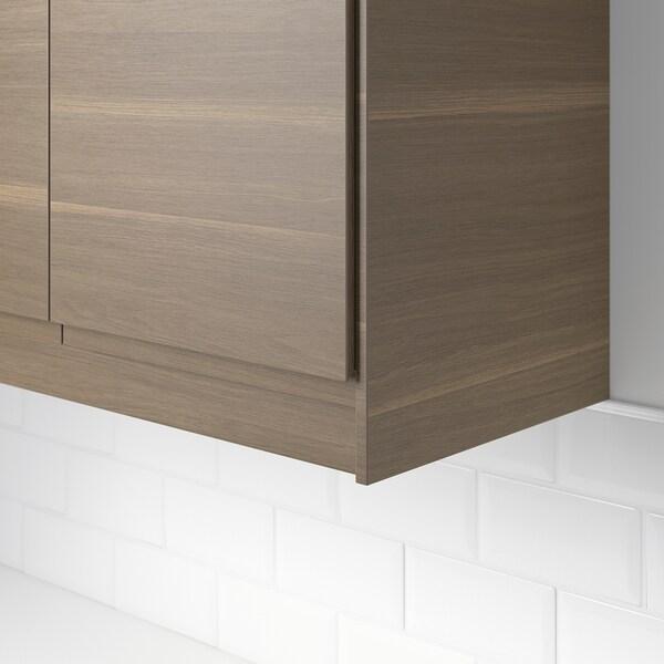 VOXTORP Rounded deco strip/moulding, walnut effect, 221 cm