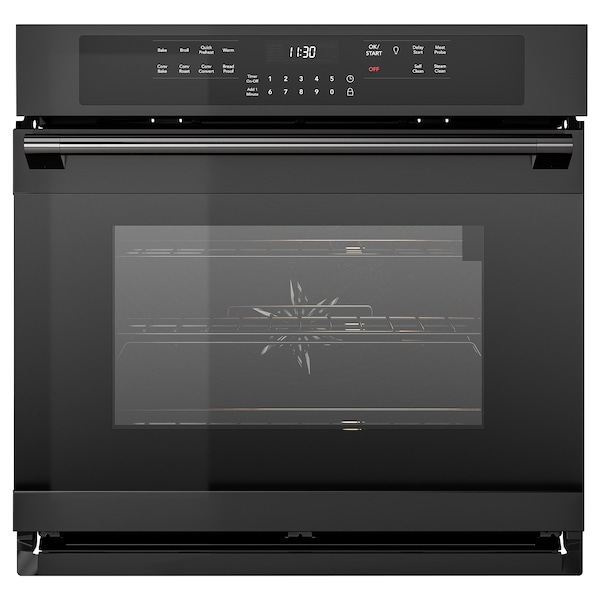 ADRÄTT Wall oven with true conv+self-clean, black Stainless steel