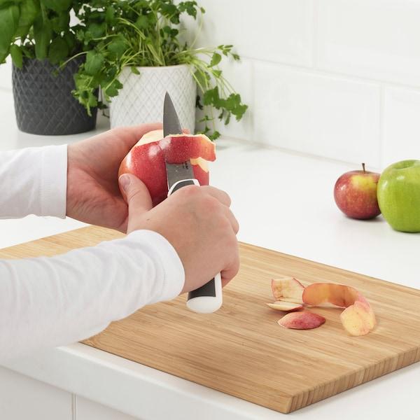 ÄNDLIG 3-piece knife set, light gray/white