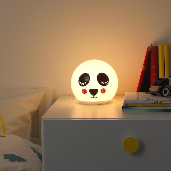 ÄNGARNA LED table lamp, panda pattern