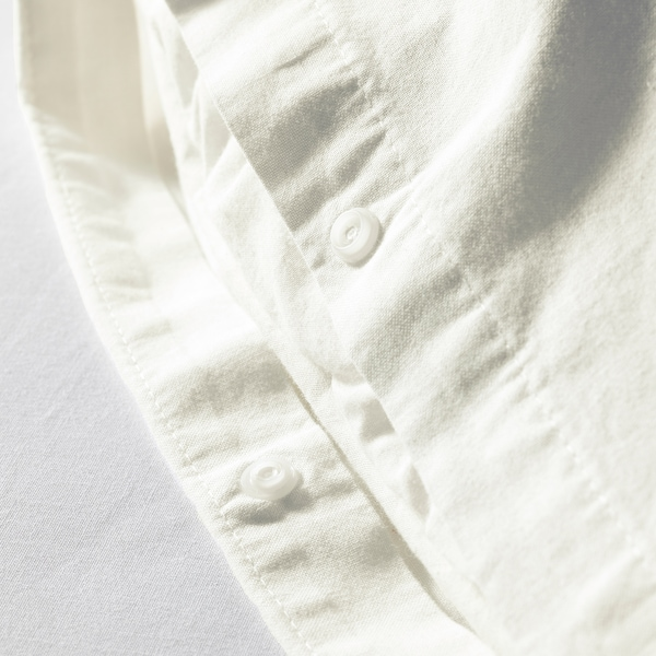 ÄNGSLILJA Duvet cover and pillowcase(s), white, King