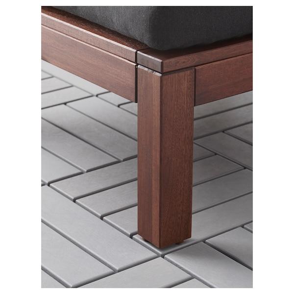 "ÄPPLARÖ Chair, outdoor, brown stained/Hållö black, 24 3/4x31 1/2x30 3/4 """