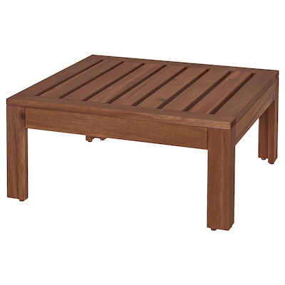 """ÄPPLARÖ Table/stool section, outdoor, brown stained, 24 3/4x24 3/4 """""""