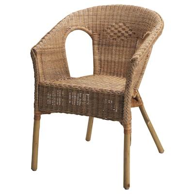 """AGEN armchair rattan/bamboo 22 7/8 """" 22 """" 31 1/8 """" 16 7/8 """" 15 3/4 """" 17 3/8 """""""