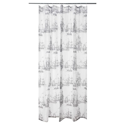 "AGGERSUND shower curtain gray 71 "" 71 "" 34.88 sq feet"