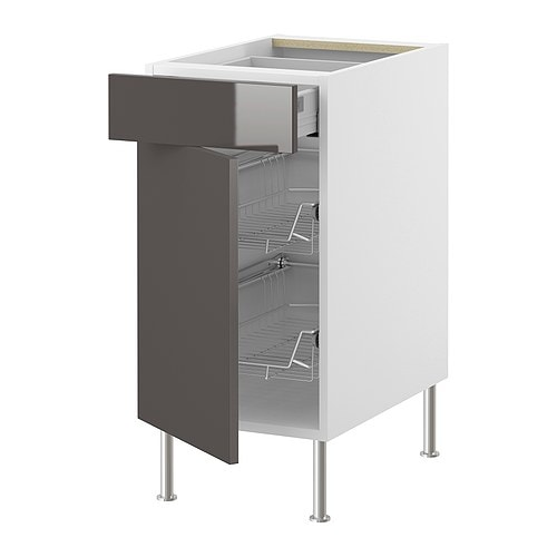 AKURUM Base cab w wire basket/drawer/door