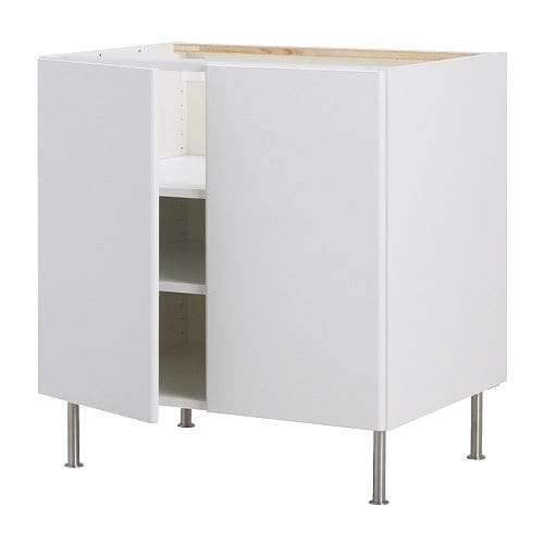 AKURUM Base cabinet w shelf/2 doors   You can customize spacing as needed, because the shelf is adjustable.