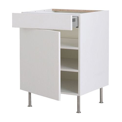 AKURUM Base cabinet w shelf/drawer/door   You can view and access what's inside as the drawer can be pulled out all the way.