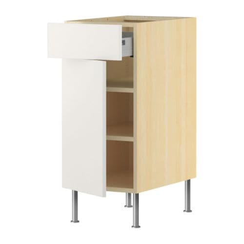 AKURUM Base cabinet w shelf/drawer/door   Fully-extending drawer; for easy overview and access to the contents.