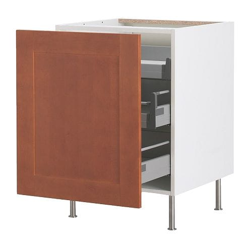 akurum base cabinet with pull out storage white 196