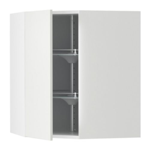 AKURUM Corner wall cabinet with carousel   2 swivel shelves; maximize the use of the corner space and make the contents easy to view and reach.