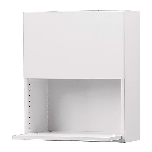 "AKURUM Wall cabinet for microwave oven   You can choose to mount the door on the right or left side.  Sturdy frame construction, 3/4"" thick."